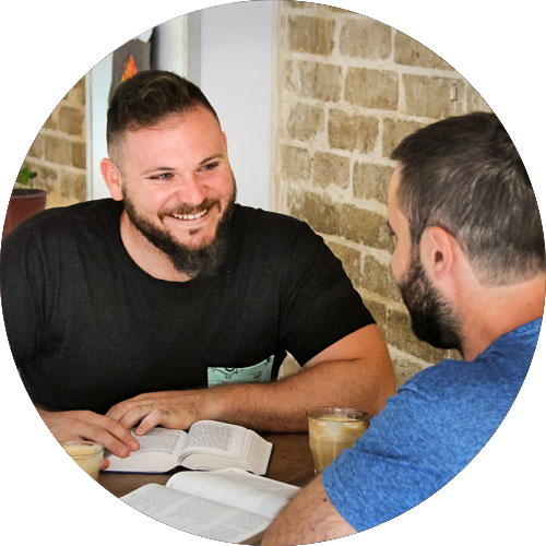 Jews for Jesus missionary leading 1-on-1 Bible study
