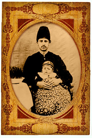 David Ehteshamol Hokama, born circa 1870, with his son, Noorola. David is the son of Hakim Musah, Emmanuel's maternal great-great grandfather.