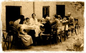 An Iranian get-together at the home of Mr. and Mrs. Mebasser (Emmanuel's paternal grandparents) in Tehran, Iran